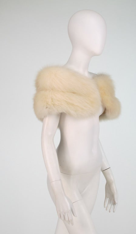1950s white fox fur stole eveing wrap 5