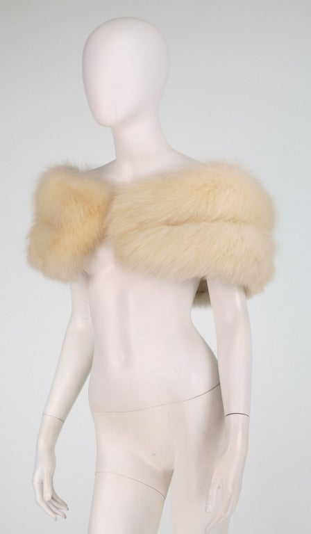 1950s white fox fur stole eveing wrap 6