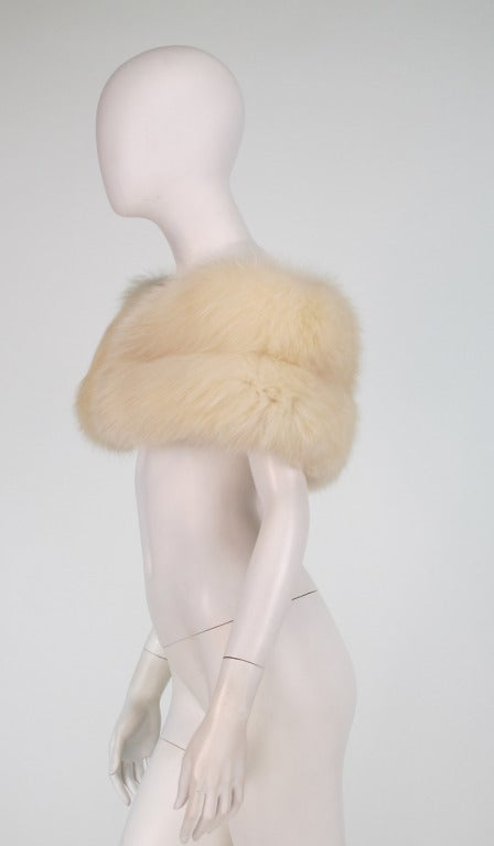 1950s white fox fur stole eveing wrap 7