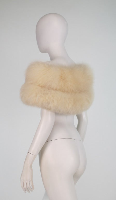 1950s white fox fur stole eveing wrap 8
