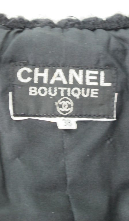 1990s Chanel classic little black boucle jacket 6