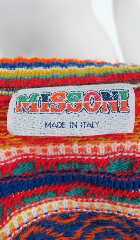 1960s early Missoni folkloric knit sweater 10