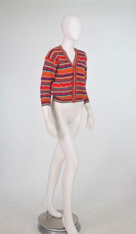 1960s early Missoni folkloric knit sweater 2