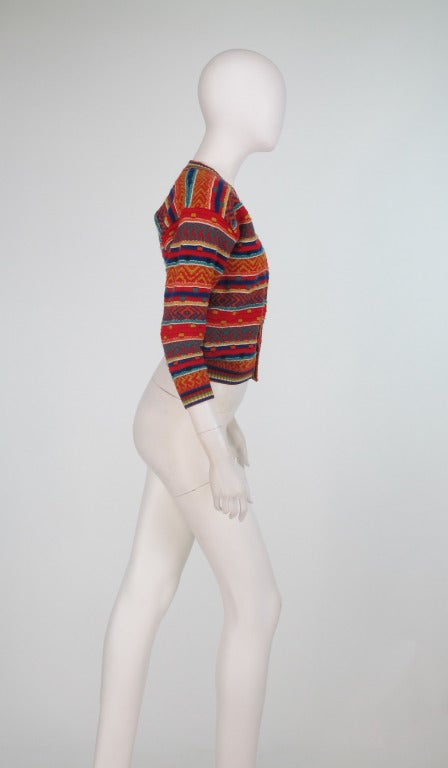 1960s early Missoni folkloric knit sweater 3