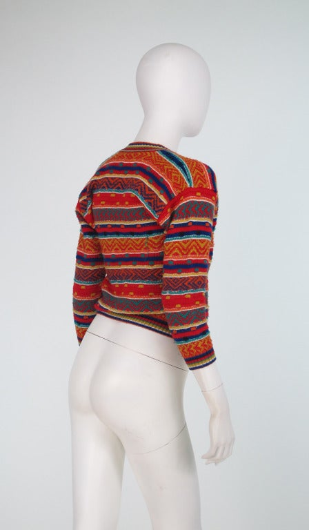 1960s early Missoni folkloric knit sweater 4