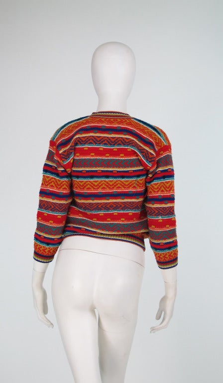 1960s early Missoni folkloric knit sweater 5