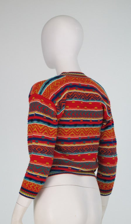 1960s early Missoni folkloric knit sweater 6