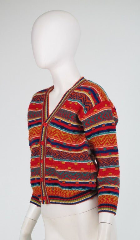 1960s early Missoni folkloric knit sweater 8