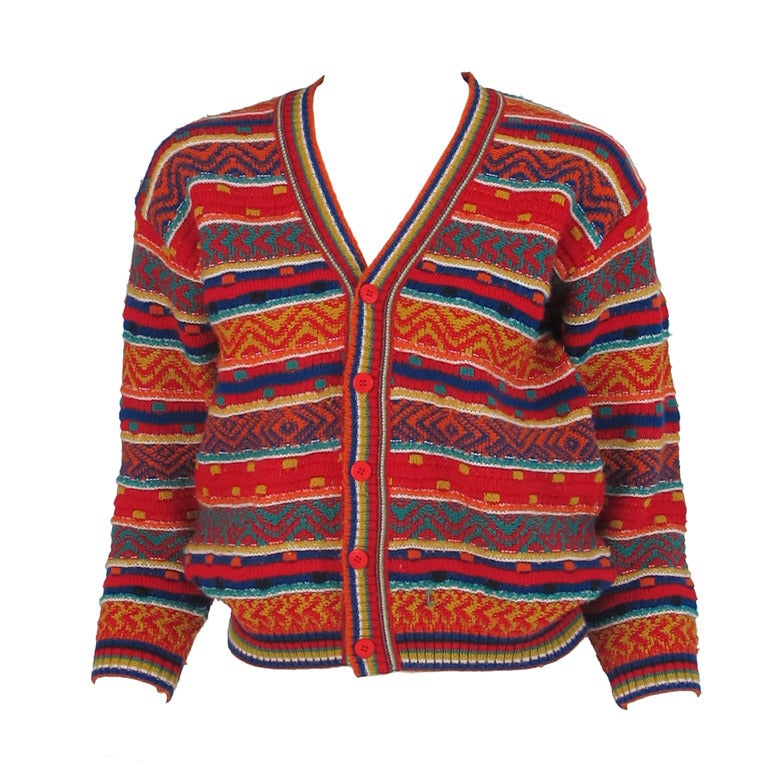 1960s early Missoni folkloric knit sweater 1
