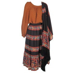 1970s Andrea Odicini bohemian inspired 3pc set