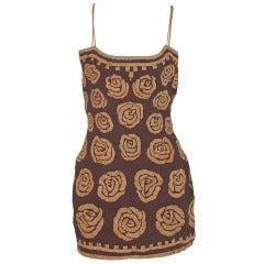 Violeta Villacorte Clothing Artisan linen & raffia tunic dress