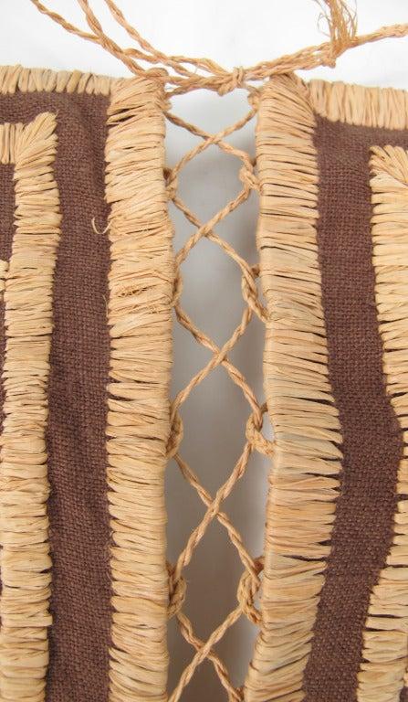 Violeta Villacorte Clothing Artisan linen & raffia tunic dress For Sale 3