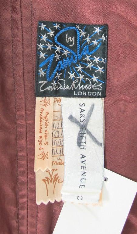 1980s Zandra Rhodes ombre chiffon & silver lace fairy dress For Sale 5