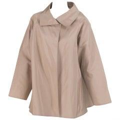 Zoran versatile classic khaki silk jacket