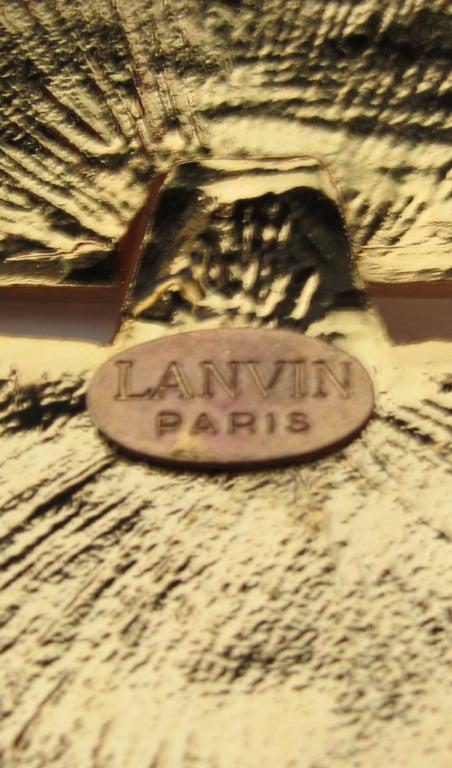Women's 1970s Lanvin gold modernist pendant necklace For Sale