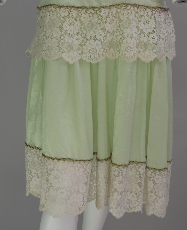 1920s silk & lace afternoon dress For Sale 2