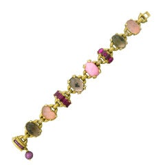 Judith Ripka Ambrosia Gold Diamond Gem Bracelet