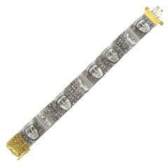 Kieselstein Cord Women of the World Gold Steel Bracelet