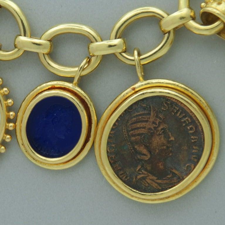 Impressive Elizabeth Locke Gold Charm Bracelet 3