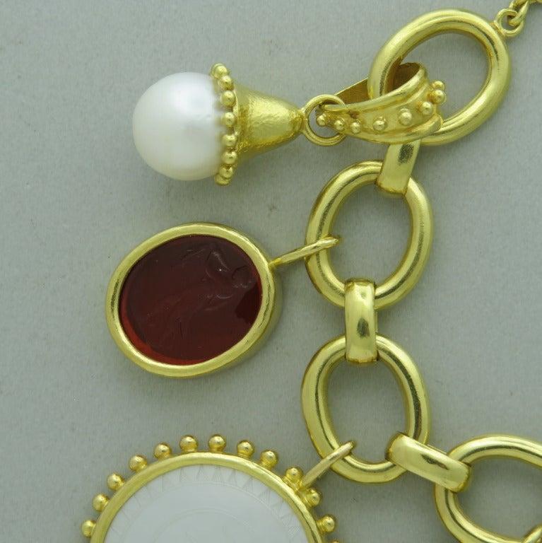 Impressive Elizabeth Locke Gold Charm Bracelet 4