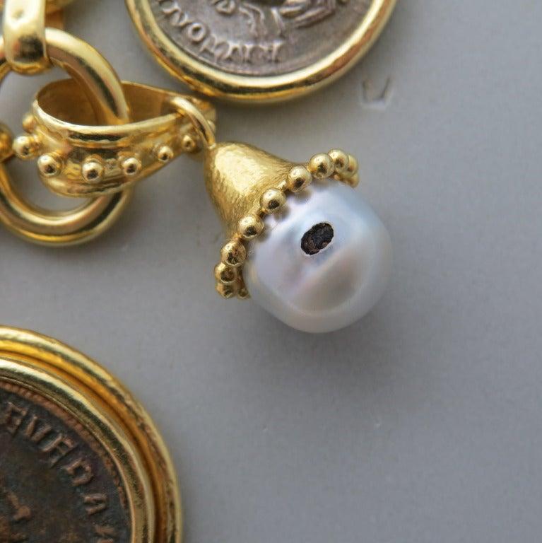 Impressive Elizabeth Locke Gold Charm Bracelet 5