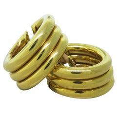 1980s Marina B Triple Hoop Earrings