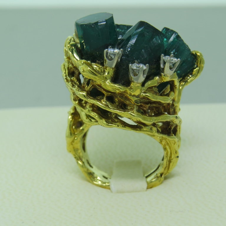 color gold woman lady emerald quality green rose luxury rectangle ring high man made crystal product