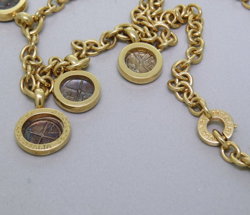 bulgari gold ancient coin necklace at 1stdibs