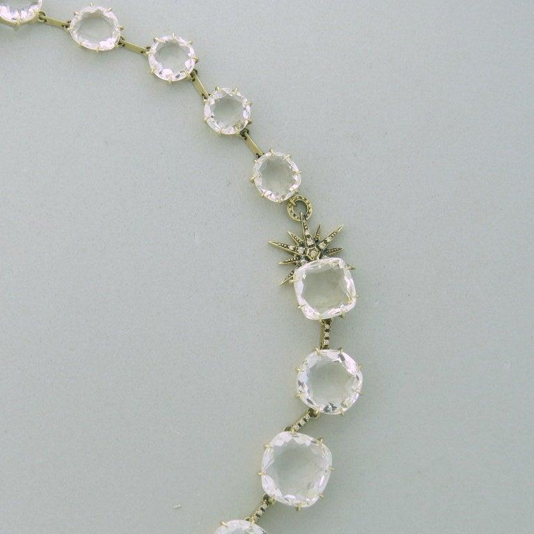Uncut H Stern Moonlight Gold Diamond Crystal Necklace