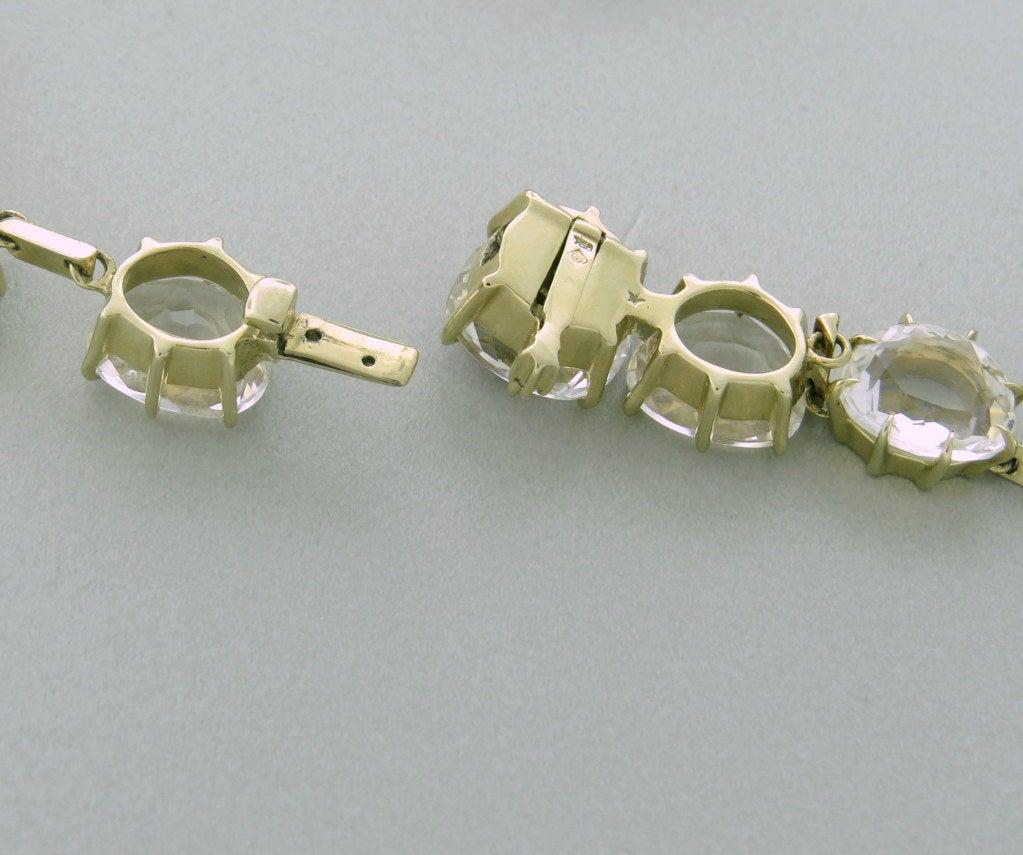 Women's H Stern Moonlight Gold Diamond Crystal Necklace