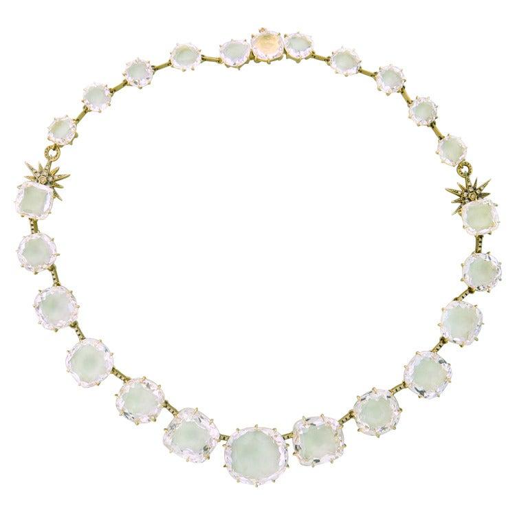 H Stern Moonlight Gold Diamond Crystal Necklace