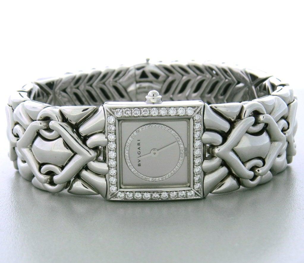 Lady's Bulgari Gold Diamond Trika Bracelet Watch 2