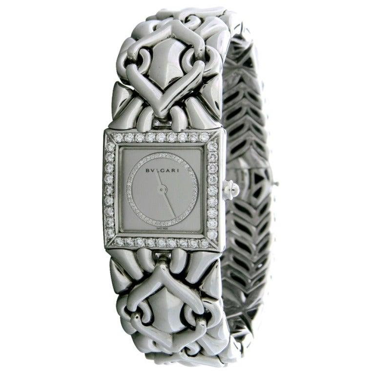 Lady's Bulgari Gold Diamond Trika Bracelet Watch 1