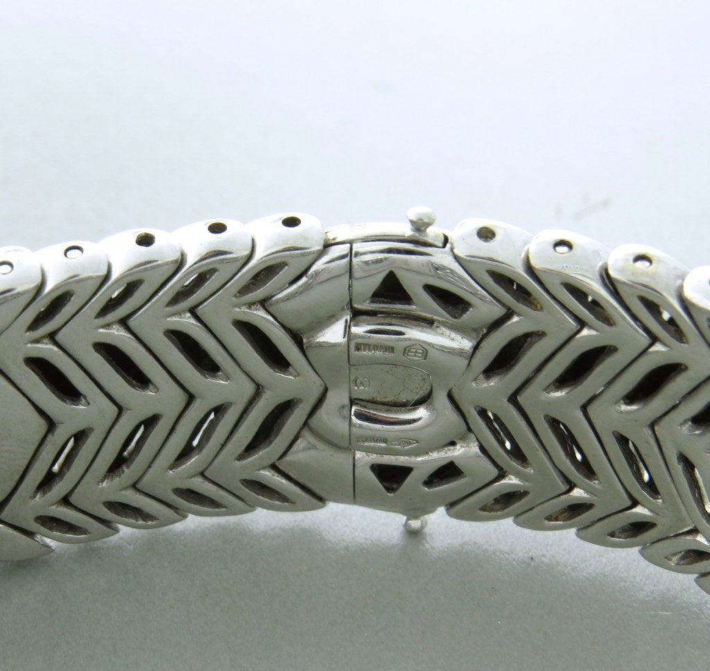 Lady's Bulgari Gold Diamond Trika Bracelet Watch 4