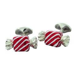 Deakin & Francis Sterling Silver Square Sweet Candy Cufflinks