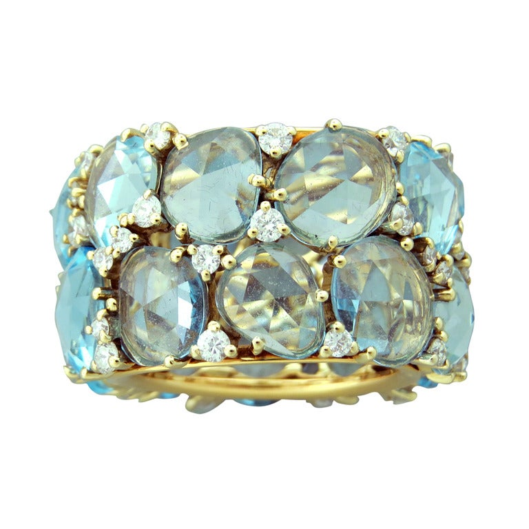Pomellato Lulu Topaz Diamond Gold Ring