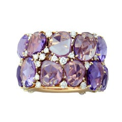 Pomellato Lulu Gold Diamond Amethyst Ring