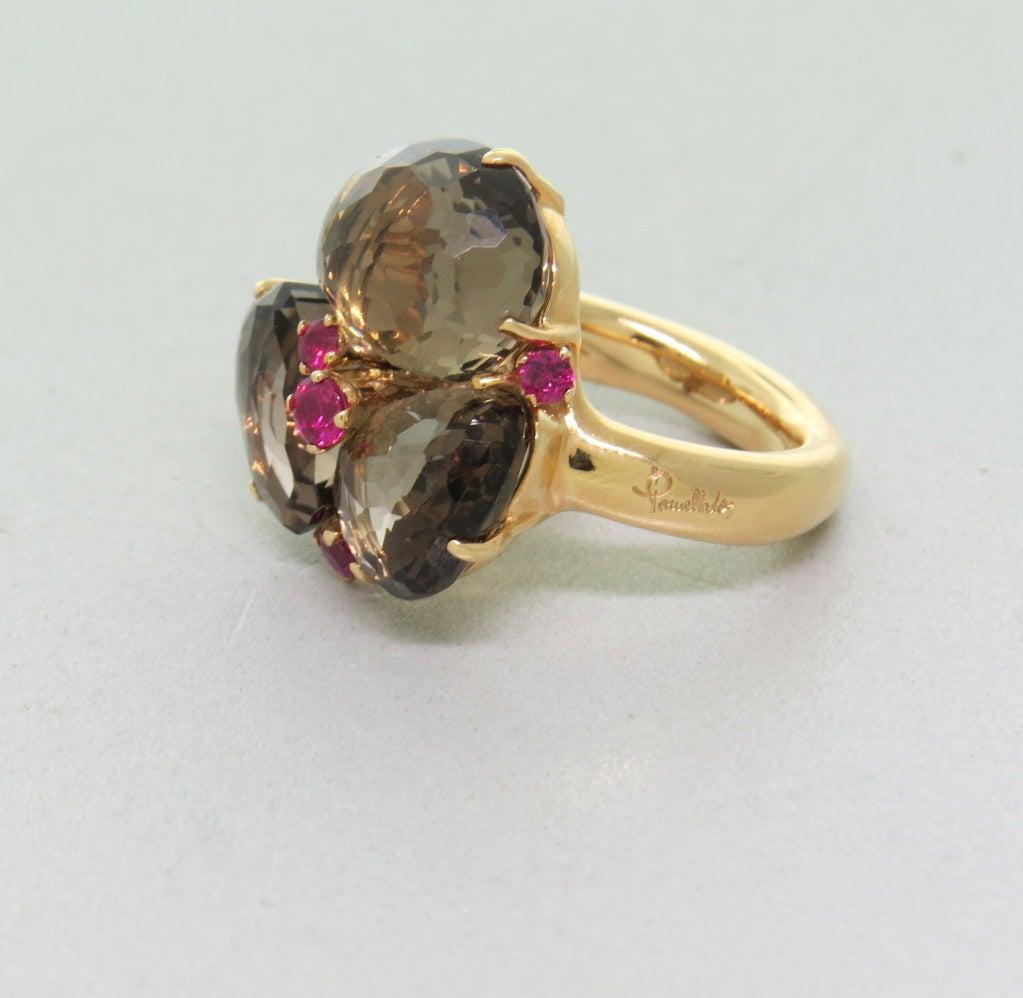 Pomellato Bahia Gold Ruby Smokey Quartz Ring At 1stdibs