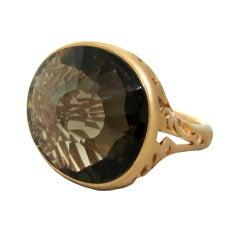 Pomellato Arabesque Smokey Quartz Gold Ring