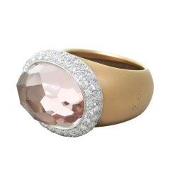Pomellato Iceberg Gold Morganite Diamond Ring