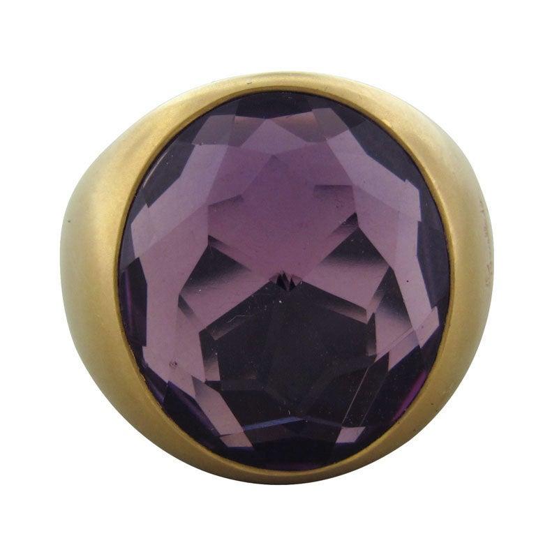 POMELLATO Narciso Rose Gold Amethyst Ring
