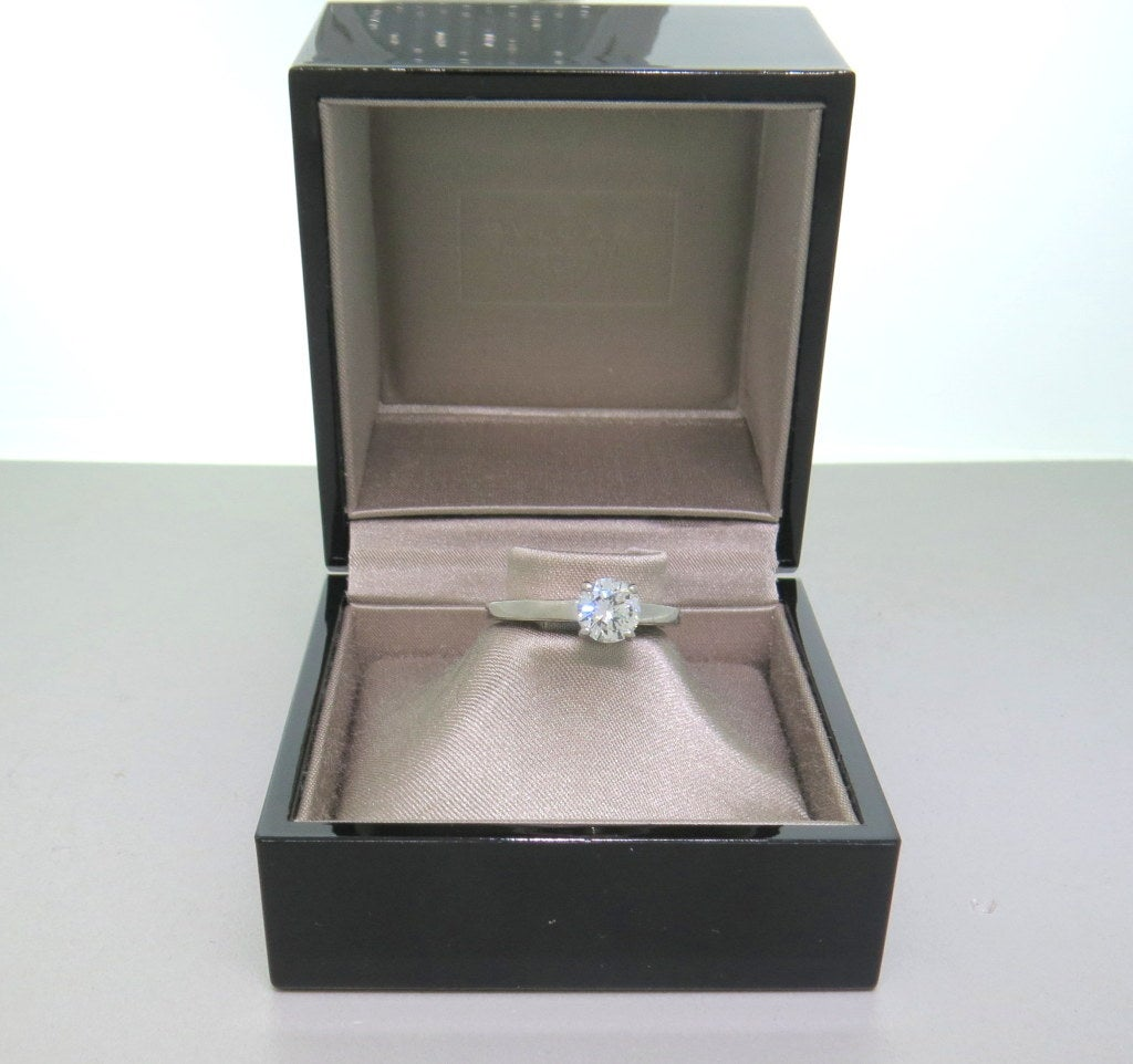 Women's Bulgari Griffe Diamond Platinum Engagement Ring For Sale