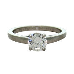 Bulgari Griffe Diamond Platinum Engagement Ring