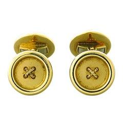 Deakin & Francis Gold Button Cufflinks