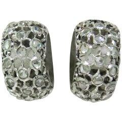 Buccellati Diamond Gold Hoop Earrings