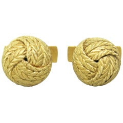 Classic Buccellati Yellow Gold Knot Cufflinks