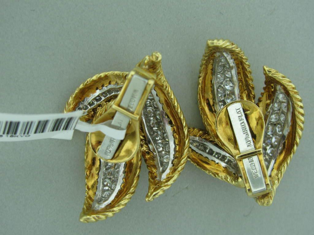 DAVID WEBB Diamond Gold Platinum Earrings 3