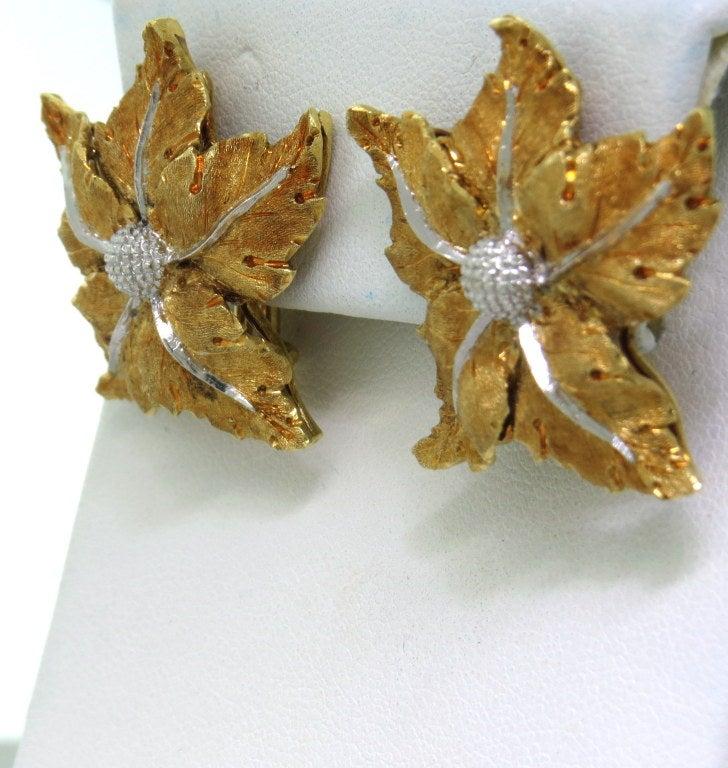 Buccellati Gold Leaf Earrings 2