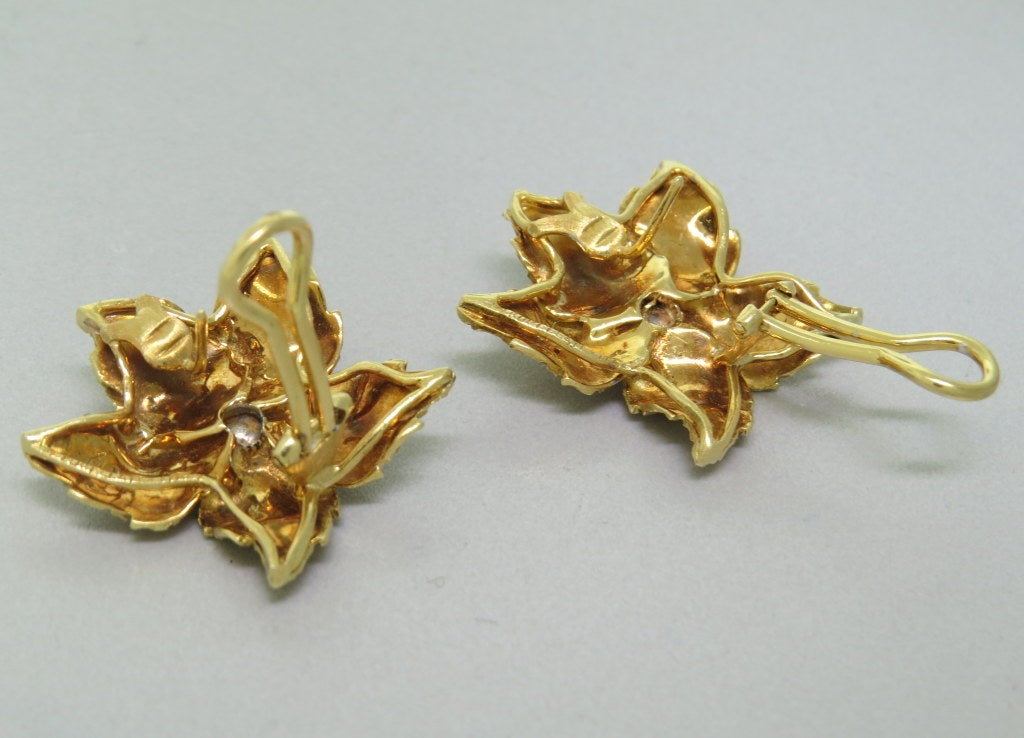 Buccellati Gold Leaf Earrings 3