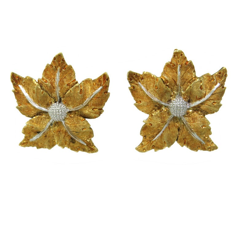 Buccellati Gold Leaf Earrings 1
